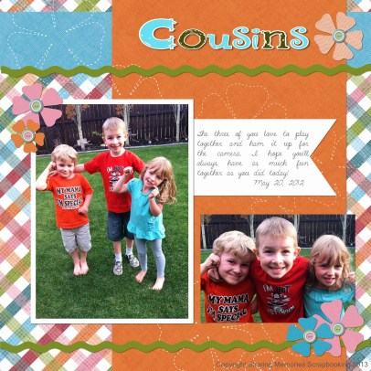 3 Tips to Choose Multi Photo Scrapbook Layouts in the Store January Sketch Of The Sharing Memories Scrapbooking
