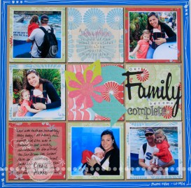 3 Tips to Choose Multi Photo Scrapbook Layouts in the Store Our Family Became Complete Feeling Crafty Clicky Chick