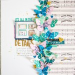 3 Tips To Choose Multi Photo Scrapbook Layouts In The Store Scattered Confetti Maggie Holmes Fussy Cutting Layout