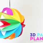 3d Craft Paper Paper Planets Babble Dabble Do Fi