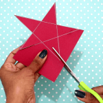 4th Of July Paper Crafts 4th Of July Easy Crafts Cut The Star Shape Out Of The Paper 4th of july paper crafts|getfuncraft.com