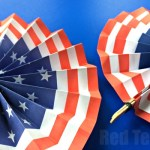 4th Of July Paper Crafts Paper Fan Diy Template 4th of july paper crafts|getfuncraft.com