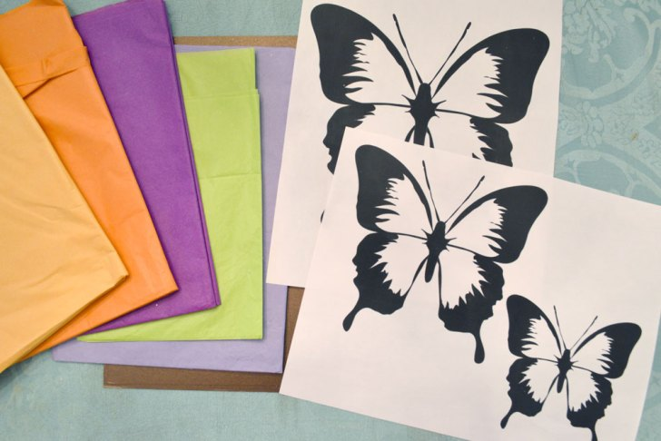 Butterfly Tissue Paper Craft