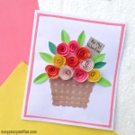 Card Paper Craft Flower Basket Paper Craft For Kids card paper craft|getfuncraft.com