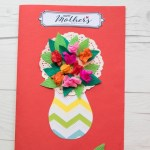 Card Paper Craft Mothers Day Flower Card 1 card paper craft|getfuncraft.com