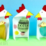 Card Paper Craft Triangle Chick Cards card paper craft|getfuncraft.com