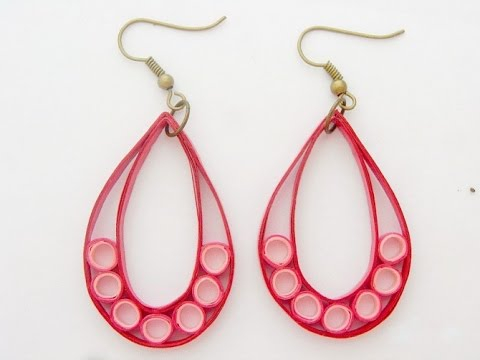 Cool custom quilling paper craft earrings