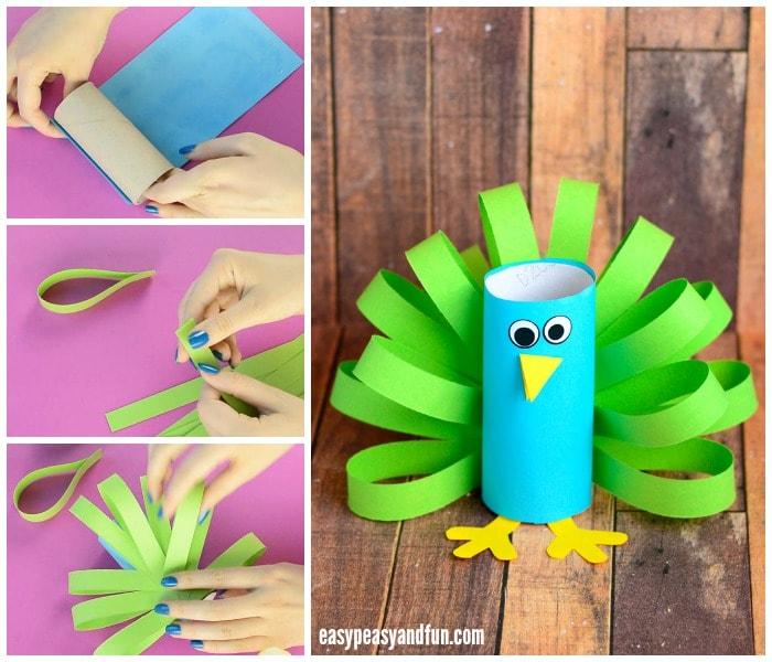 Craft Ideas For Toilet Paper Rolls Paper Roll Peacock Craft For Kids craft ideas for toilet paper rolls|getfuncraft.com