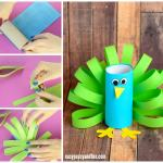Craft Ideas For Toilet Paper Rolls Paper Roll Peacock Craft For Kids