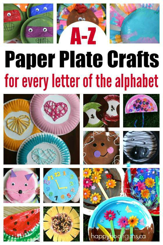 Craft Ideas Using Paper Plates A Z Paper Plate Crafts For Every Letter Of The Alphabet Happy Hooligans 2 19 17 Am craft ideas using paper plates|getfuncraft.com