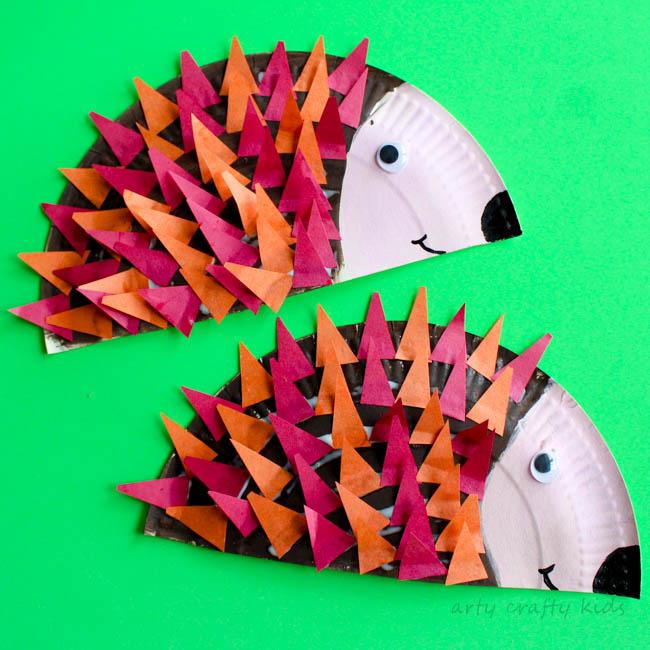 Craft Ideas Using Paper Plates Hedgehogs 1 craft ideas using paper plates getfuncraft.com