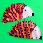 Craft Ideas Using Paper Plates Hedgehogs 1
