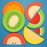 Craft Ideas Using Paper Plates K310 Paper Plate Fruits Main2