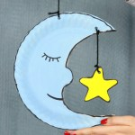 Craft Ideas Using Paper Plates Moon Paper Plate Craft For Kids To Make