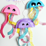 Craft Ideas Using Paper Plates Paper Plate Jellyfish Craft