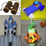 Crafts From Toilet Paper Rolls Toilet Paper Roll Binoculars Car Castle Lantern crafts from toilet paper rolls|getfuncraft.com