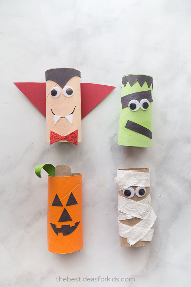 Crafts With Toilet Paper Rolls Halloween Toilet Paper Roll Crafts crafts with toilet paper rolls |getfuncraft.com