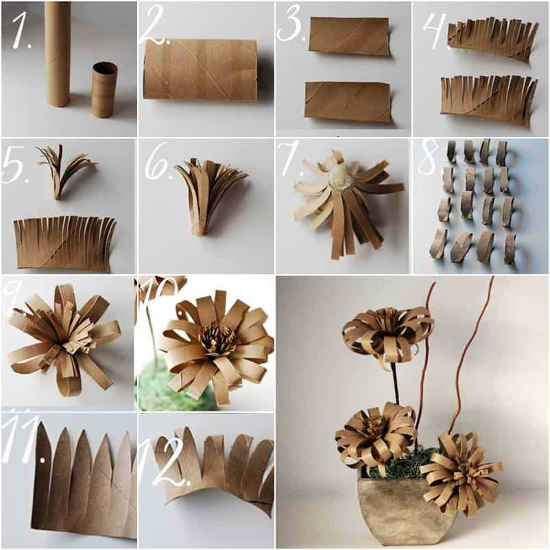 Crafts With Toilet Paper Rolls Paper Flower Intro crafts with toilet paper rolls |getfuncraft.com