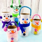 Crafts With Toilet Paper Rolls Toilet Paper Roll Snowman Crafts Square