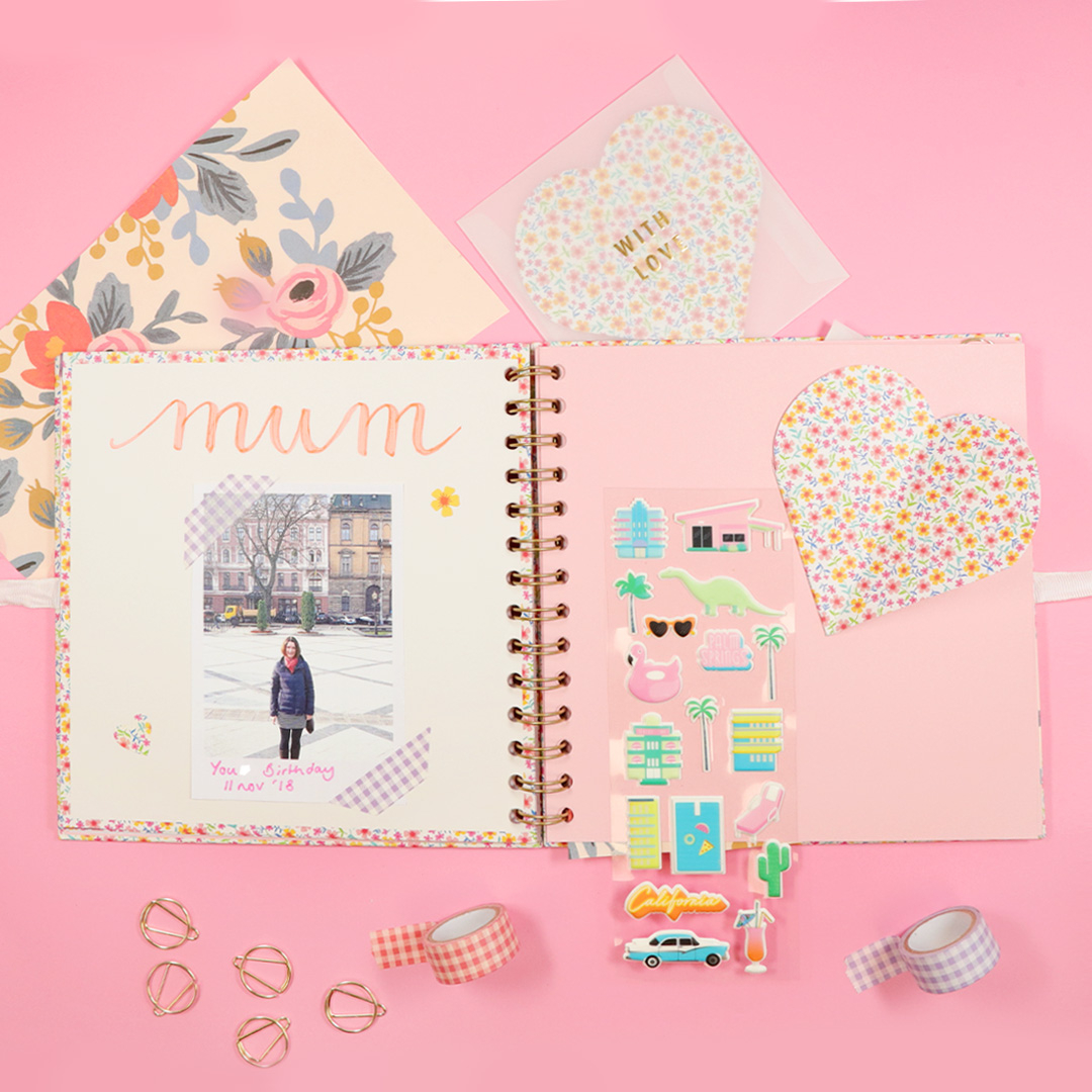 Creative Relationship Scrapbook Ideas Mothers Day Scrapbooking Paperchase Journal