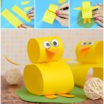 Duck Paper Plate Craft Cute Construction Paper Chick Craft duck paper plate craft|getfuncraft.com