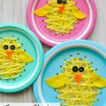 Duck Paper Plate Craft Easter Chick Sewing Craft 2 duck paper plate craft|getfuncraft.com