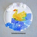 Duck Paper Plate Craft Paper Plate Duck Hand Craft With Feathers