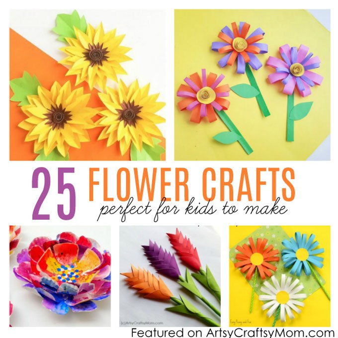 Flower From Paper Craft 25 Flower Crafts For Kids 2 flower from paper craft|getfuncraft.com