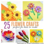 Flower From Paper Craft 25 Flower Crafts For Kids 2