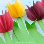 Flower From Paper Craft 3d Paper Tulip Craft 5