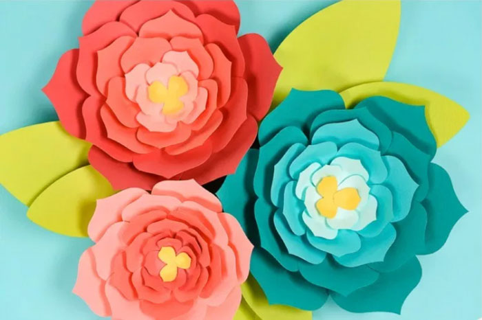 Flower From Paper Craft Giant Paper Flowers flower from paper craft getfuncraft.com