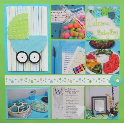 How to Create the Scrapbook Ideas Baby Ba Shower Scrapbook Pages Ba Showers Ideas