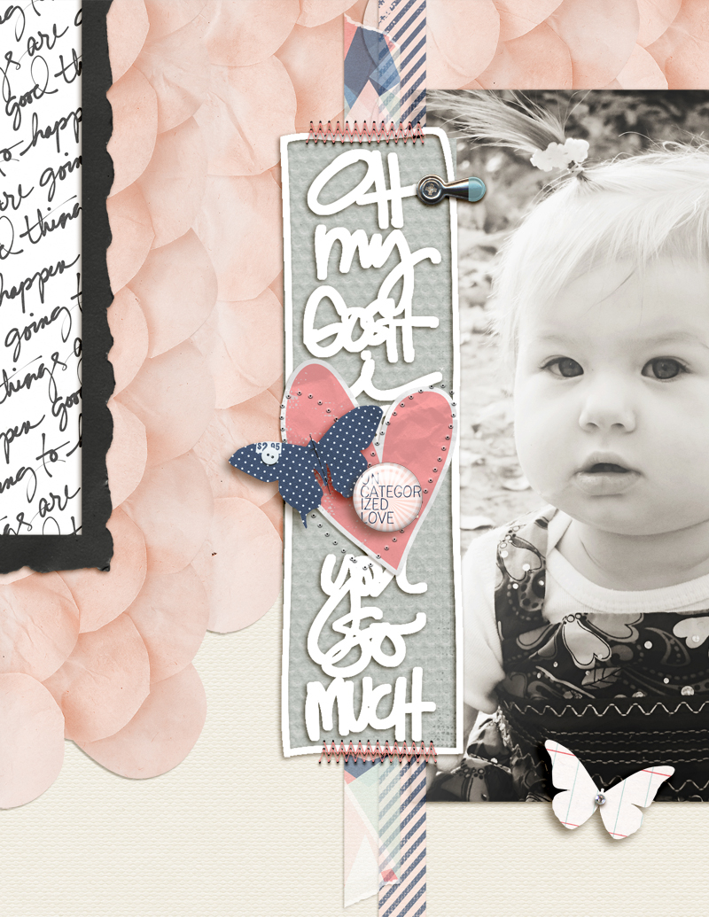 How to Create the Scrapbook Ideas Baby Ideas For Scrapbook Page Storytelling With Scallops