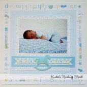 How to Create the Scrapbook Ideas Baby Katies Nesting Spot Ba Boy Scrapbook Pages First Studio Portaits