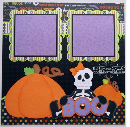 Ornaments to Apply on Halloween Scrapbook Pages Blj Graves Studio Little Ghoulies Halloween Scrapbook Page