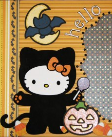 Ornaments to Apply on Halloween Scrapbook Pages The Avid Scrapper Hello Boo Kitty Halloween Scrapbook Pages