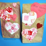 Paper Bag Valentine Crafts Creative Painting Techniquie For Valentines Gift Bags