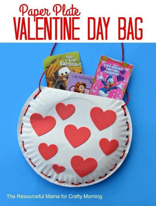Paper Bag Valentine Crafts Paper Plate Valentine Bag 2 paper bag valentine crafts |getfuncraft.com