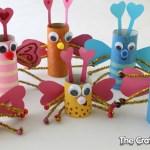 Paper Bag Valentine Crafts Tp Roll Love Bugs For Valentines Day paper bag valentine crafts |getfuncraft.com