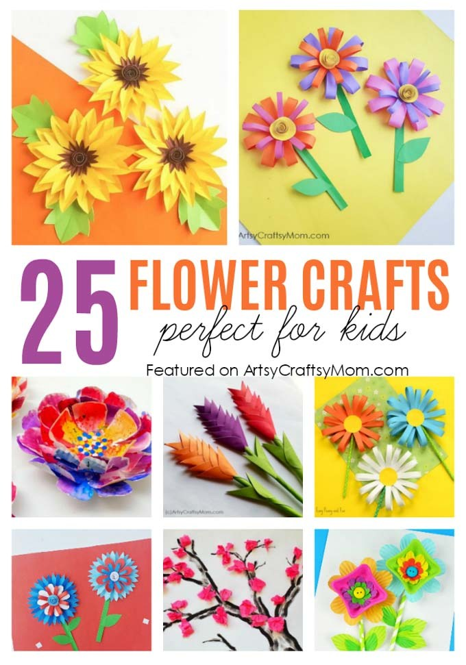 Paper Craft For Kids Flowers 25 Flower Crafts For Kids 1 paper craft for kids flowers|getfuncraft.com