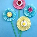 Paper Craft For Kids Flowers Easy Paper Flower Craft 3