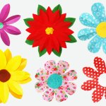 Paper Craft For Kids Flowers Foldingpaperflowers 8petal