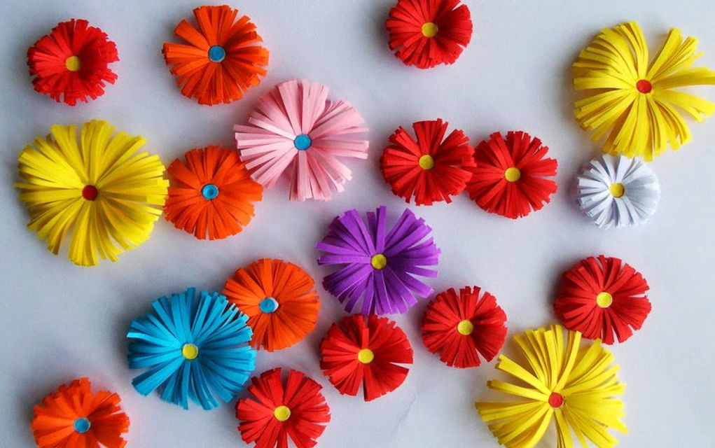 Paper Craft For Kids Flowers Origami Paper Flowers paper craft for kids flowers|getfuncraft.com
