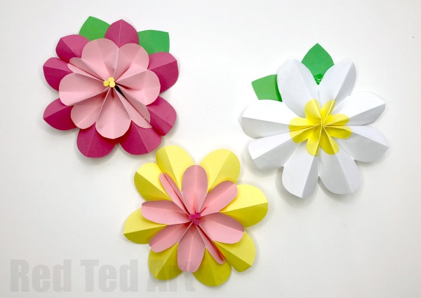 Paper Craft For Kids Flowers Paper Flowers paper craft for kids flowers getfuncraft.com