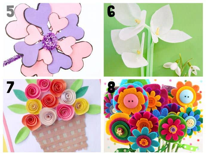 Paper Craft For Kids Flowers Pretty Flower Crafts 5 8 paper craft for kids flowers|getfuncraft.com