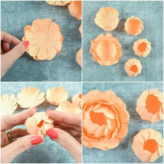 A gorgeous bunch of printable template paper flower craft tutorial