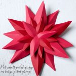 Paper Poinsettia Craft Paper Poinsetta Tutorial 6 634x592