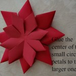 Paper Poinsettia Craft Paper Poinsettia Step 81