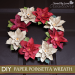Paper Poinsettia Craft Paperpoinsettawreathdiy