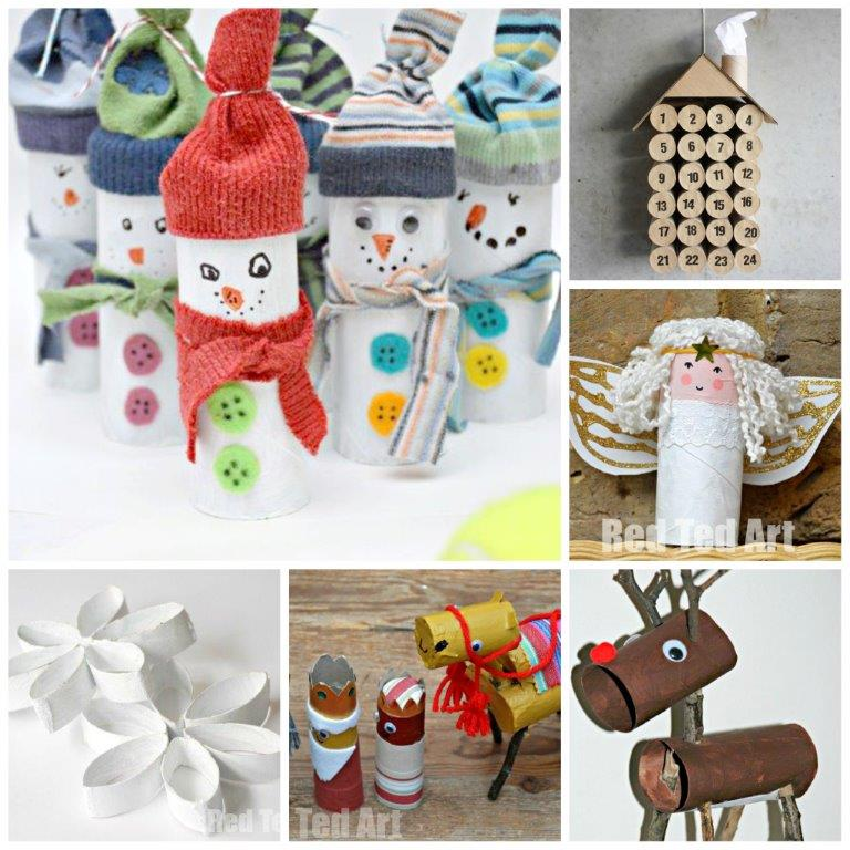 Paper Roll Craft Ideas 12 Christmas Tp Roll Crafts paper roll craft ideas  getfuncraft.com